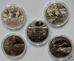 Set 5 Coin - 4 cities EURO 2012 FOOTBALL Ukraine-Poland Soccer Sport UEFA Cup