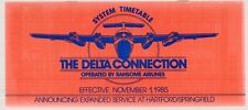 "[25757] 1985 RANSOME AIRLINES ""THE DELTA CONNECTION""  FLIGHT SCHEDULE"