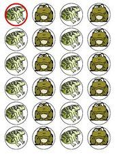 X24 Cartoon Toad Fête D'Anniversaire Cup glaçages pour gâteau décoration sur Comestibles Papier de Riz