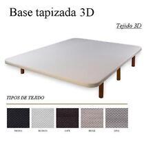 BASE TAPIZADA 3D CON  6 PATAS MADERA O METAL 150X190 CONSULTAR MÁS MEDIDAS
