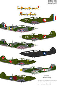 International P39 Euro Decals in 1/72 & 1/48 scale