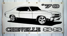 1970 Chevelle SS emblem custom banner sign 2'X4' NEW COLORS AVAILABLE