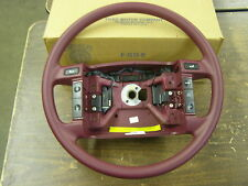 NOS OEM Ford 1991 Lincoln Continental Cranberry Red Steering Wheel F1OY-3600-C