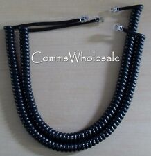 Meridian Norstar Nortel BCM Handset Curly Cord for M7208 T7208 (Cable) Black x 2