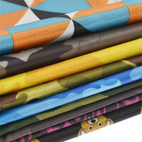 Camouflage Printed Waterproof Ripstop PU Fabric Outdoor Coating Bag Material DIY