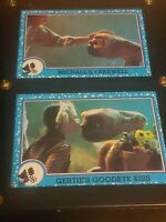 1980's Vintage Trading  - ET # 72 &74 Micheal and Gertie w/ ET.