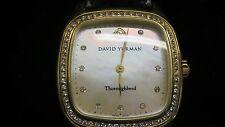 david yurmansolid 18k gold factory diamonds throughbred watcht