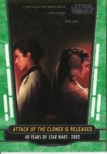 Star Wars 40th Anniversary Green Base Card #86 Attack of the Clones is Released