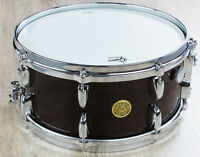 Gretsch Ebony Ribbon Mahogany Snare Drum w/ Micro Sensitive Throw Off (6.5 x 14)