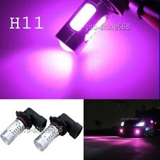 2x  Pink Purple 7.5W High Power LED H9 H8 H11 HID Fog Driving Light Lamp Bulb