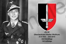 aviation art luftwaffe pilot photo postcard Walter Wolfrum color WW2 JG 52