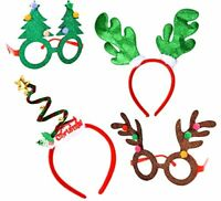 Christmas Party 4 pack 2 Fancy Headband & 2 Party Glasses-Funny Party Hats