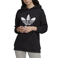 Adidas Originals Felpa da Donna con Cappuccio Adicolor Trefoil Nera Codice FM...
