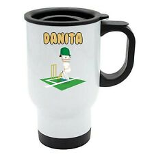Danita - Cricket Travel Mug - Personalised Gift For - Ashes, Hobby