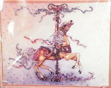 Carousel Horse & Ribbons Counted Cross Stitch Kit Candamar Designs New in Pack