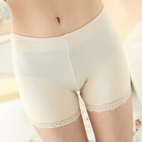 Women Leggings Pants Casual Lace Solid Stretchy Underwear Shorts Seamless Safety