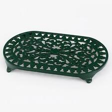 NEW VICTOR ROBERT WELCH CAST IRON TRIVET PAN POT STAND DOUBLE ~ FOREST GREEN