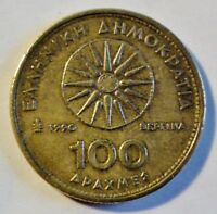 Griechenland / Greece 100 Drachmen 1990 - normale Umlaufmünze ss-vz /vf-xf