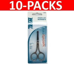 10x TRIM Personal Care Nail Scissors Round Tip 10120 Pro Quality (10-Packs)