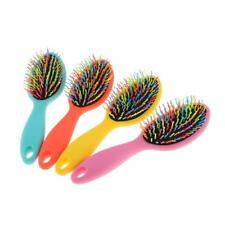 Rainbow Hair Extension Cushion Massager Brush Scalp Massage Paddle Comb