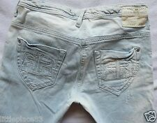River Island Ladies Jeans Size 12 R skinny distressed bleached SUPREME 32/31