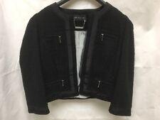 Marks & Spencer Autograph Glittery Wool Black Jacket. Size UK 10.