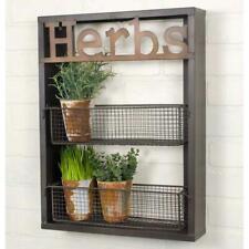 Herbs Wall Hanging Shelf Holds Live Plants