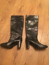 Boden Women Ladies Tan Pull on Leather Boots  Size UK 7.5 Eur 41