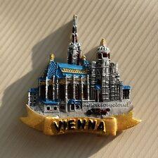 Tourist Souvenir 3D Resin Travel Fridge Magnet --- Vienna Stephasdom , Austria