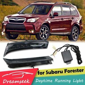 PAIR DRL FOR SUBARU FORESTER 2013 2014 2015 FOG LAMP LED DAYTIME RUNNING LIGHT