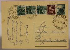 STORIA POSTALE REPUBBLICA CARTOLINA DA 15 LIRE + 2 LIRE + 1 LIRA (X3) 1951#SP516