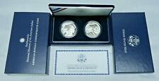 2001 American Buffalo 2 Coin Proof Silver Dollars Commemorative Coin Set w/ COA