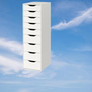 *New* ALEX Drawer unit, with 9 drawers White 36x116 cm *Brand IKEA*