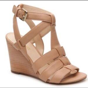 Nine West Farfalla Nude Sandals/Wedges. Sz 9.5. NIB!!!