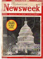 1947 Newsweek January 6-W C Fields dies; MacArthur bio; Ford health care; Stalin