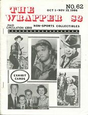 THE WRAPPER No.62 - NON-SPORTS CARDS COLLECTIBLES, MONSTER, EXHIBIT CARDS - 1986