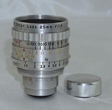 Kodak Cine Ektar 25mm f1.4 S Mount Lens