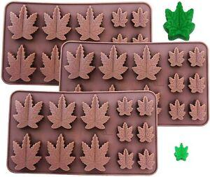 3 Pack Silicone Marijuana Lollipop Gummy Brownies Had Candy Cannabis Weed MOLD