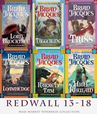 Brian Jacques REDWALL Series MASS MARKET PAPERBACK COLLECTION Books 13-18