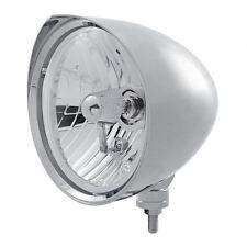 "Chrome 7"" Billet Style ""CHOPPER"" Headlight with Razor Visor - Crystal H4 Bulb"