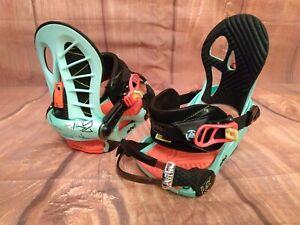 Women's snowboard bindings K2 AUTO size M  #London 1486