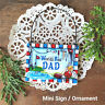 Mini Sign World's Best Dad * Wood Ornament  DecoWords Family  New in Pkg USA
