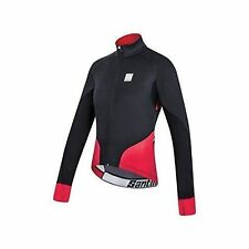 Santini Beta Jacket Black Red With Windstopper Fabric Xfree 210 2xlarge
