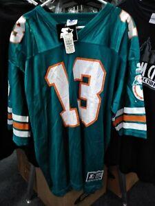 NWT Miami Dolphins Dan Marino #13 Home 1990s Original Starter Jersey Men's 52 XL