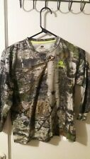 Mossy Oak Youth Long Sleeve Shirt with lime green logo