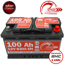 BATTERIA AUTO SPEED L4 100 Ah 830A = BOSCH FIAMM VARTA 90 95 DX + PRONTA ALL'USO