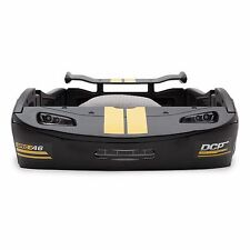 Kids Twin Bed Black Sports Racing Car Nascar Toddler boy wheels zoom ride drive