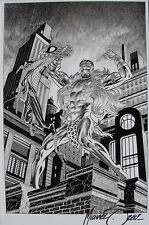 MIKE ZECK rare SPIDER-MAN print SIGNED art B/W exclusive KRAVEN pencils NICE