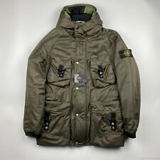 Stone Island Multi Pocket Nylon Opaque Down Parka Jacket Green - L Archivio