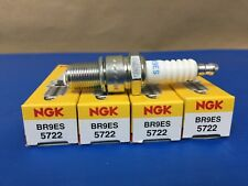 New NGK Spark Plugs (4 Count) No. BR9ES / 5722 Snowmobile ATV and Motorcycle